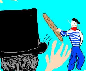 Lincoln declines frenchman's offer of baguette