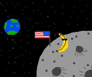 Murica Banana on the Moon