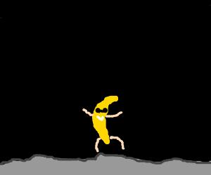 Swaggy banana on the moon