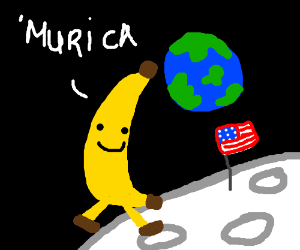 One small step for banana...