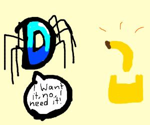Drawception D spider wants banana phone