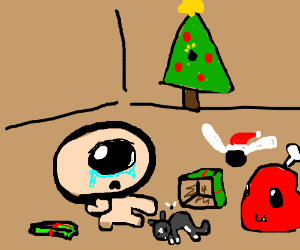 Cyclops boy got a black kitty for Christmas!
