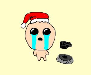 Isaacs (binding of Isaac) sad christmas.