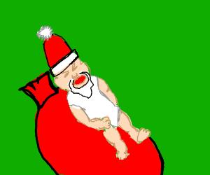 Crying baby santa