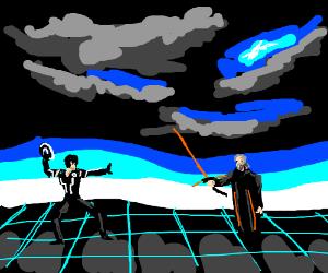 Futuristic Tron Sword Drawing By Potat Drawception