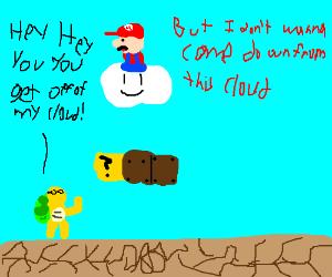 Mario steals cloud from Lakitu