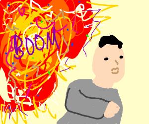 Kim Jong Un outruns an explosion