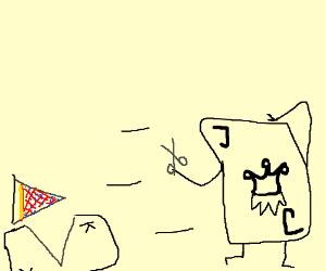 Joker decides to run with scissors