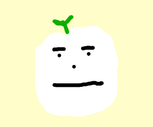 Ghost apple is unimpressed