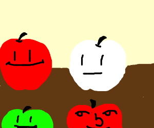 indifferent albino apple