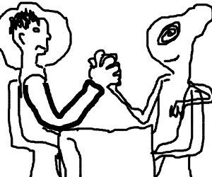 astronaut vs alien