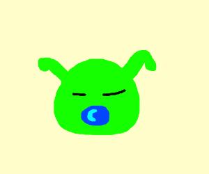 shrek baby straight faced