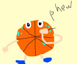 Basketball sweating