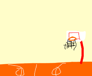 A game of basketball without the players