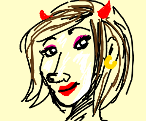 Mrs. Devil with earrings