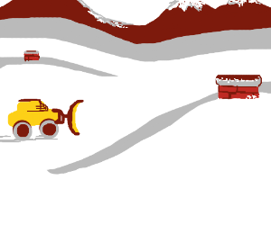 Mr. Plow finds town completely buried in snow