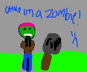 Zombie faces anxiety