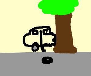 horrible car crash! oh no!