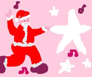 Santa dancing with the stars