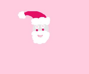 Kawaii Pink Santa