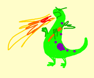 a vegetarian monster sets the world on fire