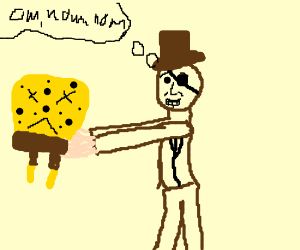 lincoln pirate eats a spongebob