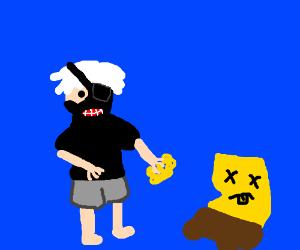 ken kaneki eats spongebob