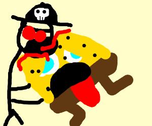 Pirate takes bite of Spongebob