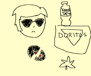 Wannabe cool guy likes mtn dew & has (no) swag