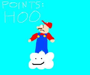 Man on top of cloud has HOO points