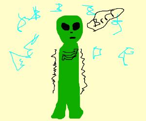 Shivering alien