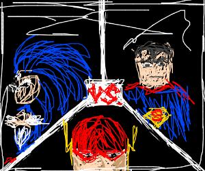 Sonic vs flash vs Superman