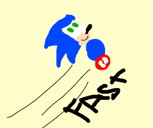 Sonic is pursued, gotta go fast