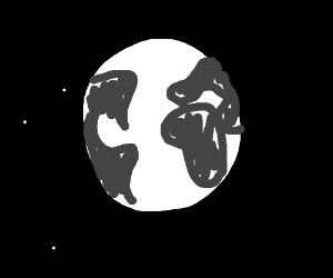 Black-and-white world.