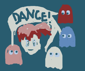 The pacman ghosts tell Misty (PKMN) to DANCE!