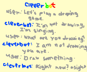Cleverbot giving CLEVER replies HAHA