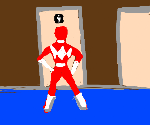 Red Power Ranger is actually a woman!