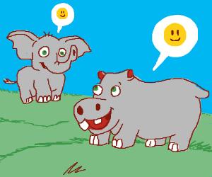 2 grey pals