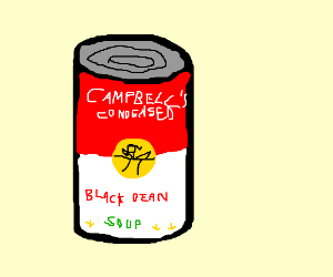 Andy Warhol's famous campbell soup can prints