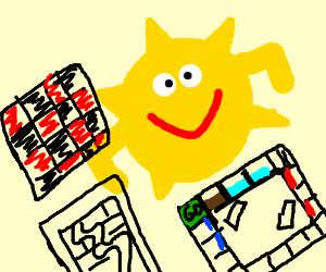 sun plays all board games