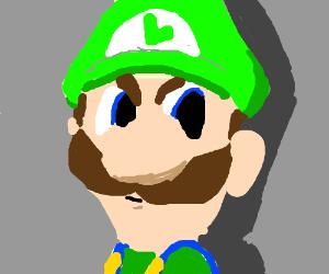 Luigi Death Stare Drawception