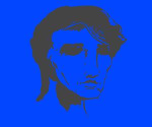 Portrait of man in blue