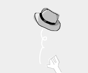 A fedora tossed into the air