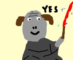 "Voldemort with dog ears saying ""Yes"""
