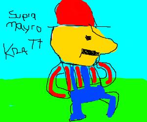 Supra Mayro Kratt. Retarded Mario in a hat.