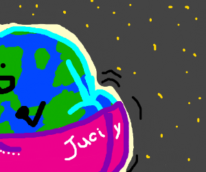 Earth twerks at space party