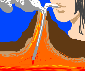 Volcano ran out of lava