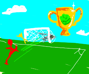 Goal at the Football Cabbage Cup