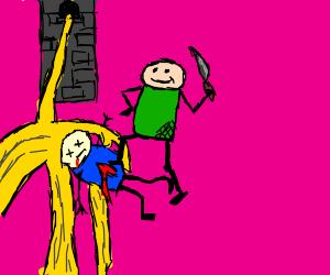green shirted guy murders Rapunzel