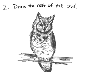 2: Draw the rest of the owl